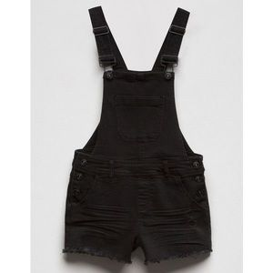 Vanilla Star: black shorts overalls